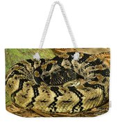 Canebrake Rattlesnake Weekender Tote Bag