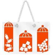 Canisters In Orange Weekender Tote Bag