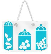 Canisters In Turquoise Weekender Tote Bag