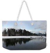 Winter Mountain Calm - Canmore, Alberta Weekender Tote Bag