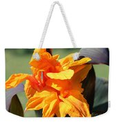 Canna Lily Named Wyoming Weekender Tote Bag