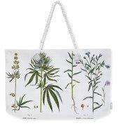 Cannabis And Flax Weekender Tote Bag