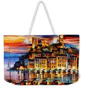 Cannes-france - Palette Knlfe Oil Painting On Canvas By Leonid Afremov Weekender Tote Bag