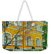 Cannon And Tulips Inside Kremlin In Moscow-russia Weekender Tote Bag