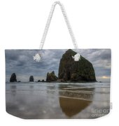 Cannon Beach Haystack Reflection Weekender Tote Bag