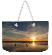 Cannon Beach Sunset Tidal Flats Weekender Tote Bag