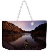 Canoe In Lake Near Shore, Arizona Weekender Tote Bag