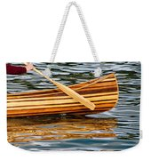 Canoe Lines And Reflections Weekender Tote Bag