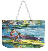 Canoe Race In Polynesia Weekender Tote Bag