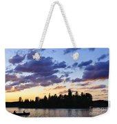 Canoeing At Sunset Weekender Tote Bag