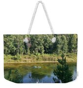 Canoeing Michigan's Au Sable Weekender Tote Bag