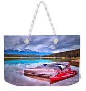 Canoes At Lake Patricia Weekender Tote Bag