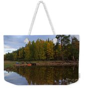 Canoes On The Shore At Loch An Eilein Weekender Tote Bag