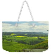 Canola Country Road Weekender Tote Bag