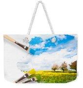 Canola Field In Summer Weekender Tote Bag by Amanda Elwell