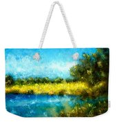 Canola Fields Impressionist Landscape Painting Weekender Tote Bag