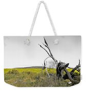 Canola Yellow Weekender Tote Bag