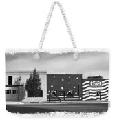 Canon City Facades - Black And White Edge Burn Weekender Tote Bag