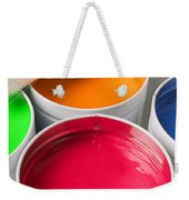 Cans Of Colored Paint Weekender Tote Bag