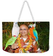 Can't Get Brighter Than This  Artist Navinjoshi In Hawaii Travel Vacations With Trained Parrots By P Weekender Tote Bag