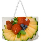 Cantaloupe Breakfast Weekender Tote Bag