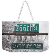Canterbury Ice Weekender Tote Bag