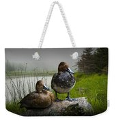 Canvasback Duck Pair By A Pond Weekender Tote Bag