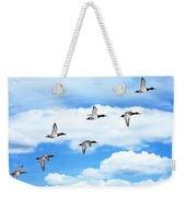 Canvasback Ducks In Flight Weekender Tote Bag