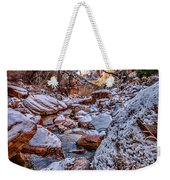Canyon Stream Winterized Weekender Tote Bag