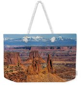 Canyon View From Mesa Arch Overlook Weekender Tote Bag