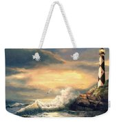 Cape Lookout Lighthouse North Carolina At Sunset  Weekender Tote Bag