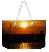 Cape May Harbor At Sunrise Weekender Tote Bag