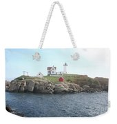 Cape Neddick Light On A Misty Morning Weekender Tote Bag