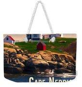 Cape Neddick Lighthouse  At Sunset  Weekender Tote Bag