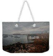 Cape Porpoise Fog Rolls In Weekender Tote Bag