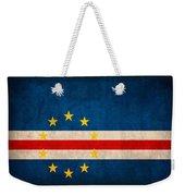 Cape Verde Flag Vintage Distressed Finish Weekender Tote Bag