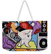 Caped Tooth Weekender Tote Bag by Anthony Falbo