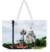 Capitol Building Seen From Waterplace Park Weekender Tote Bag by Susan Savad