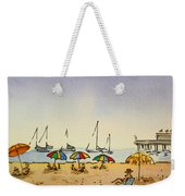 Capitola - California Sketchbook Project  Weekender Tote Bag by Irina Sztukowski