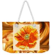 Cappuccino Abstract Collage Poppy Weekender Tote Bag