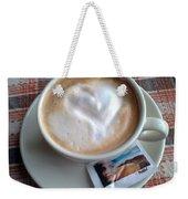 Cappuccino Love Weekender Tote Bag