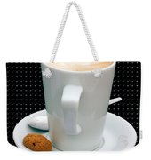 Cappuccino With An Amaretti Biscuit Weekender Tote Bag
