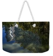 Capricious Green Sunspots Shadows And Reflections Weekender Tote Bag
