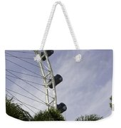 Capsules And Structure Of The Singapore Flyer Along With The Spokes Weekender Tote Bag