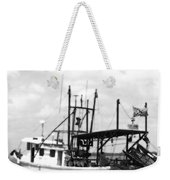 Capt. Jamie - Shrimp Boat - Bw 02 Weekender Tote Bag