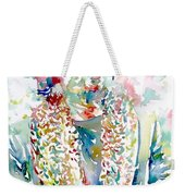 Captain Beefheart Watercolor Portrait.2 Weekender Tote Bag by Fabrizio Cassetta