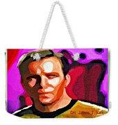 Captain James T Kirk Weekender Tote Bag
