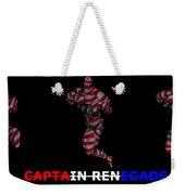 Captain Renegade Super Hero Jumping Karate Kick Weekender Tote Bag