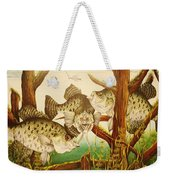 Captivating Crappies Weekender Tote Bag by Bruce Bley