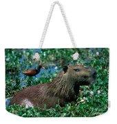 Capybara And Jacana Weekender Tote Bag
